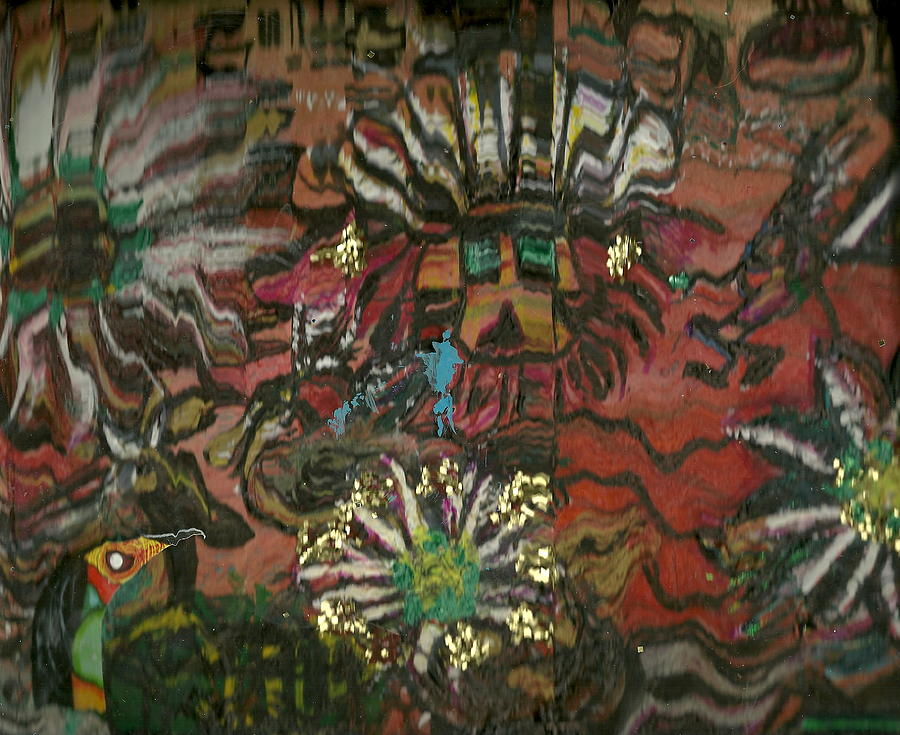Mixed Tapestry - Textile - Rumble Jumble by Anne-Elizabeth Whiteway