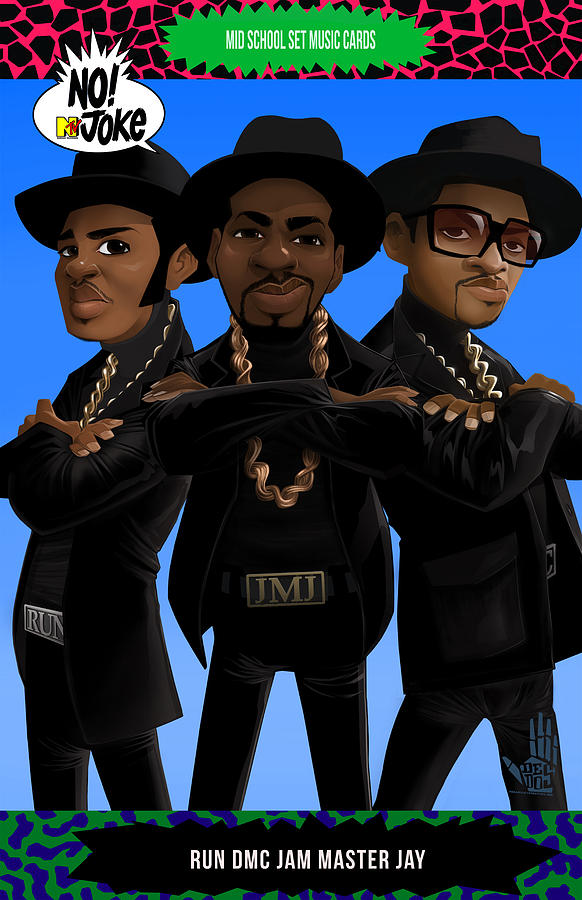Run Dmc Ntv Card Drawing  - Run Dmc Ntv Card Fine Art Print