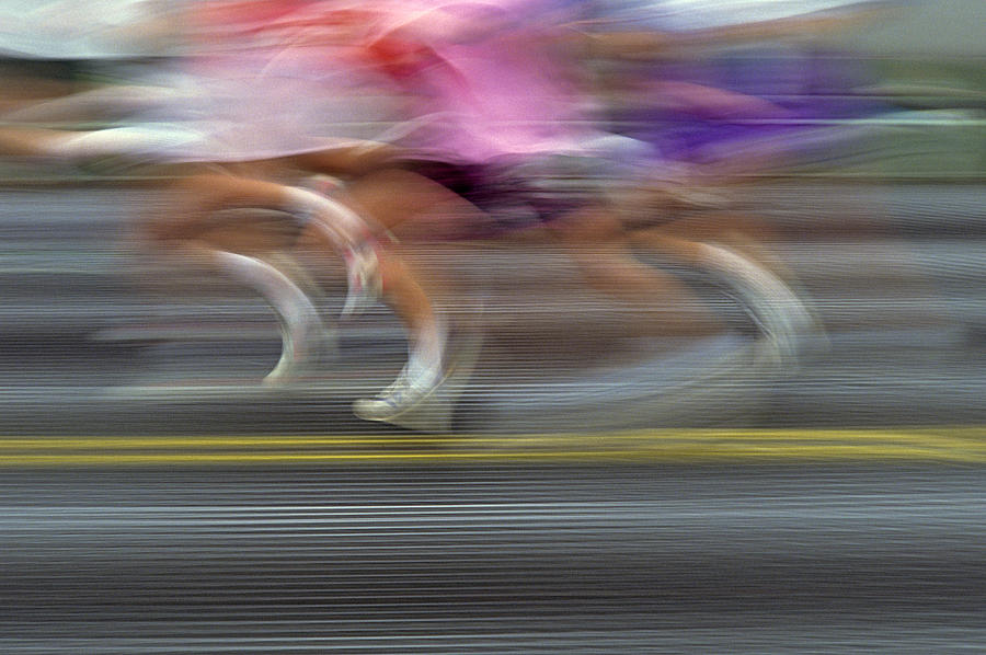 Runners Blurred Photograph  - Runners Blurred Fine Art Print