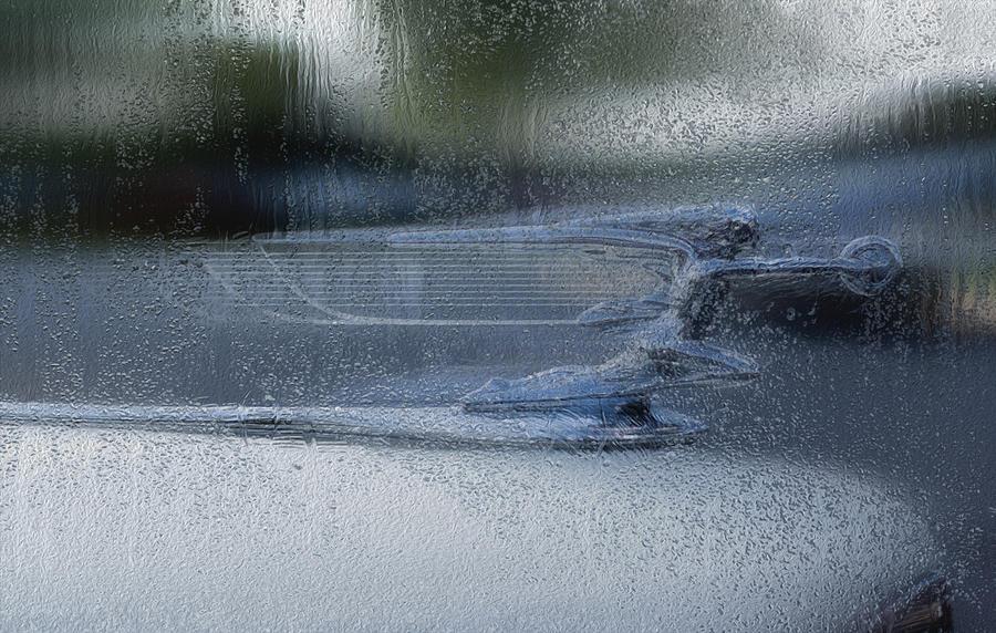 Running In The Rain Painting