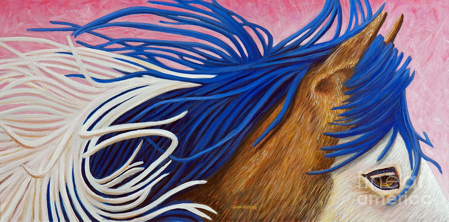 Horse Painting - Running Thunder by Brian  Commerford