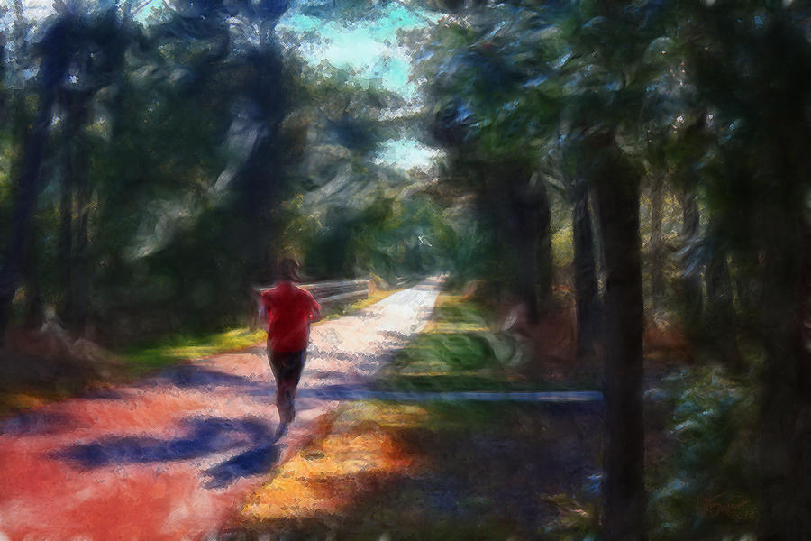 Running Digital Art  - Running Fine Art Print