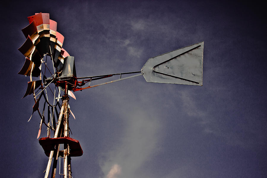 Rural America Windmill Photograph