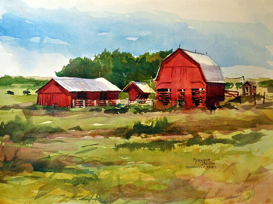 Rural Barns Painting  - Rural Barns Fine Art Print