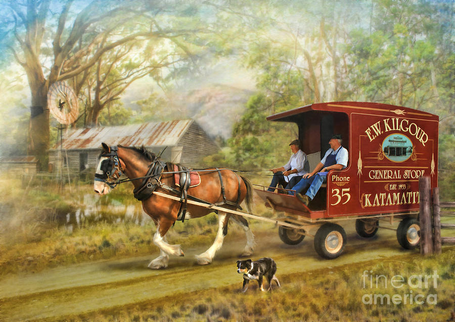 Horse And Cart  Photograph - Rural Deliveries by Trudi Simmonds