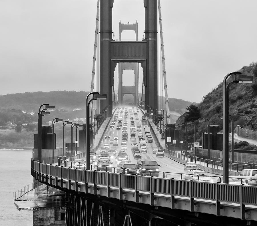 Golden Gate Photograph - Rush Hour by Alexis Birkill