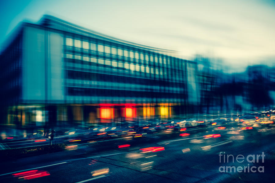 Rush Hour - Vintage Photograph  - Rush Hour - Vintage Fine Art Print