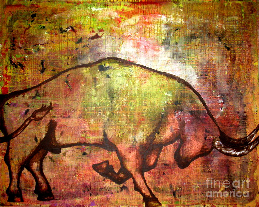 Rushing Matador Painting