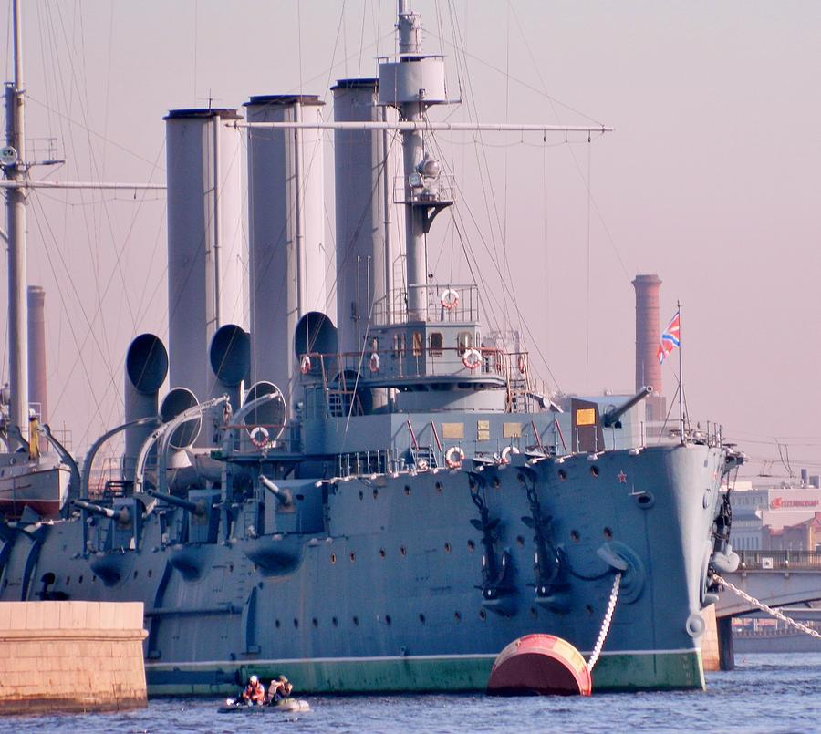Russian Battleship Photograph