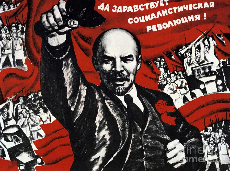 Russian Revolution October 1917 Vladimir Ilyich Lenin Ulyanov  1870 1924 Russian Revolutionary Drawing