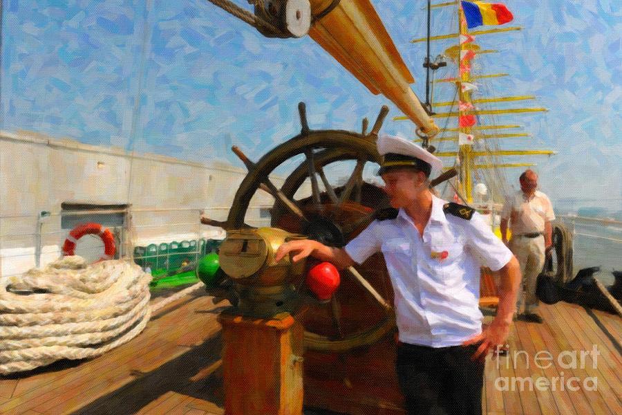 Russian Sailor Mixed Media