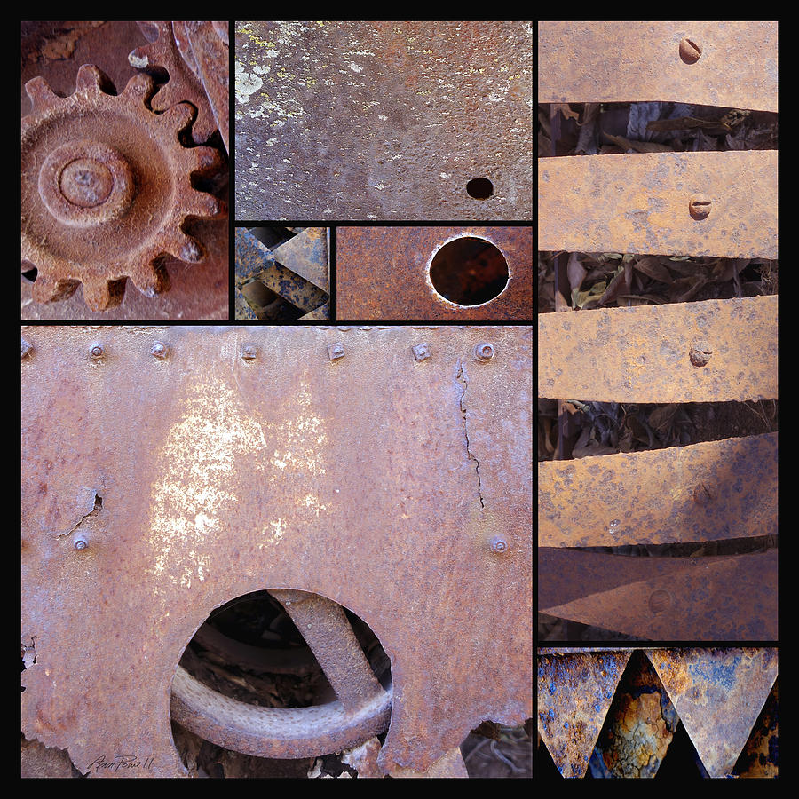 Rust And Metal Abstract  Photograph  - Rust And Metal Abstract  Fine Art Print