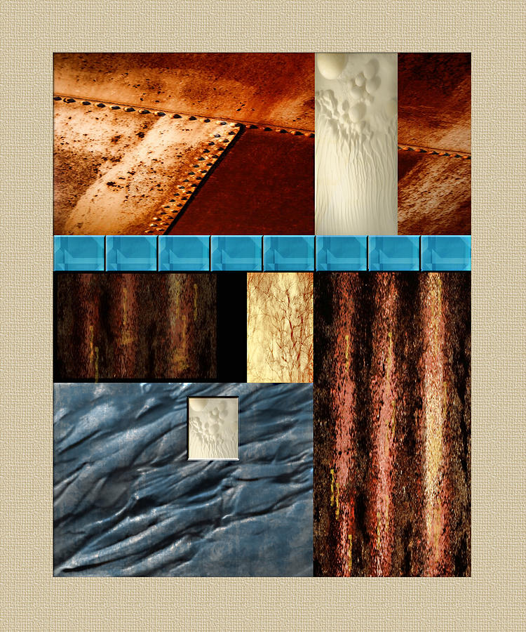 Rust And Rocks Rectangles Painting