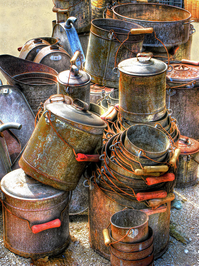 Rust Buckets Photograph  - Rust Buckets Fine Art Print