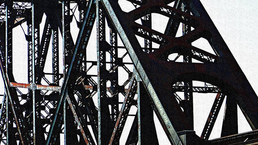 Bridge Photograph - Rust by Jenny Bowman