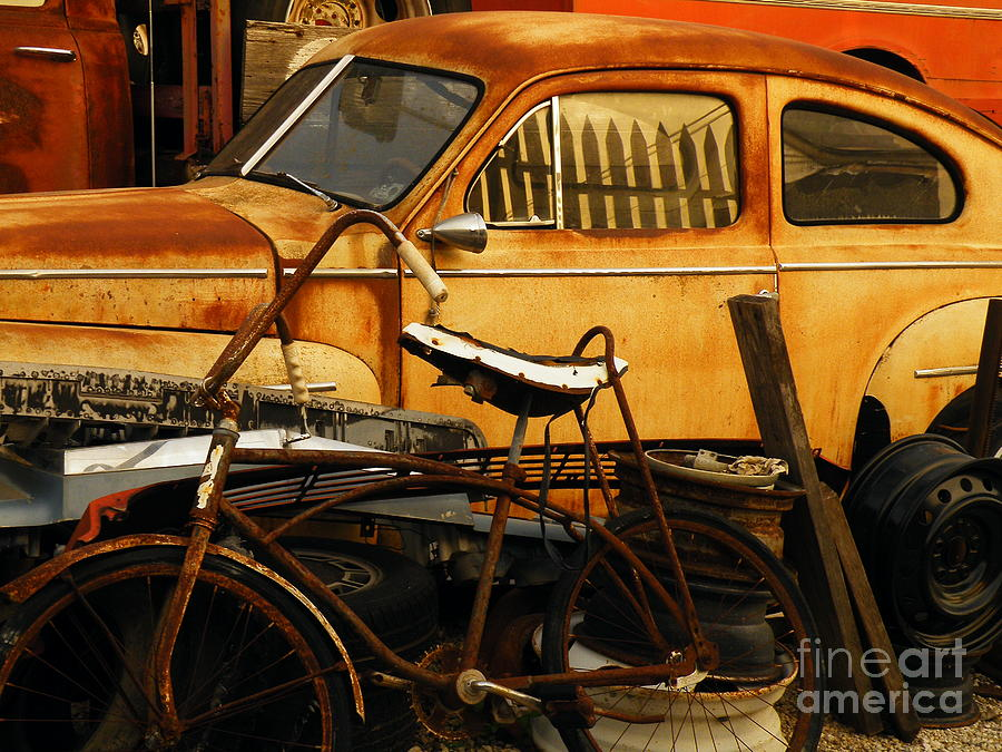 Junkyard Photograph - Rust Race by Joe Jake Pratt