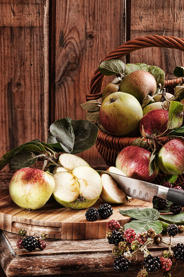 Rustic Apples Photograph