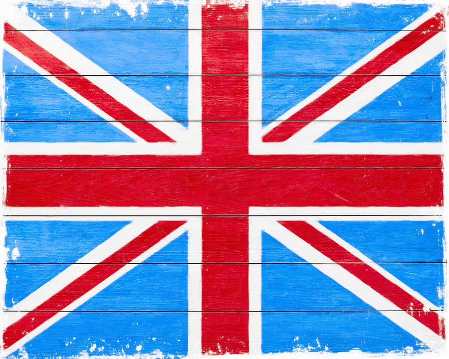 Rustic British Union Jack Vintage Flag Digital Art By