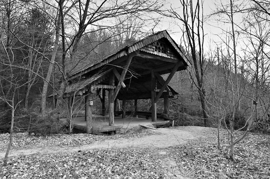 Rustic Covered Bridge Photograph