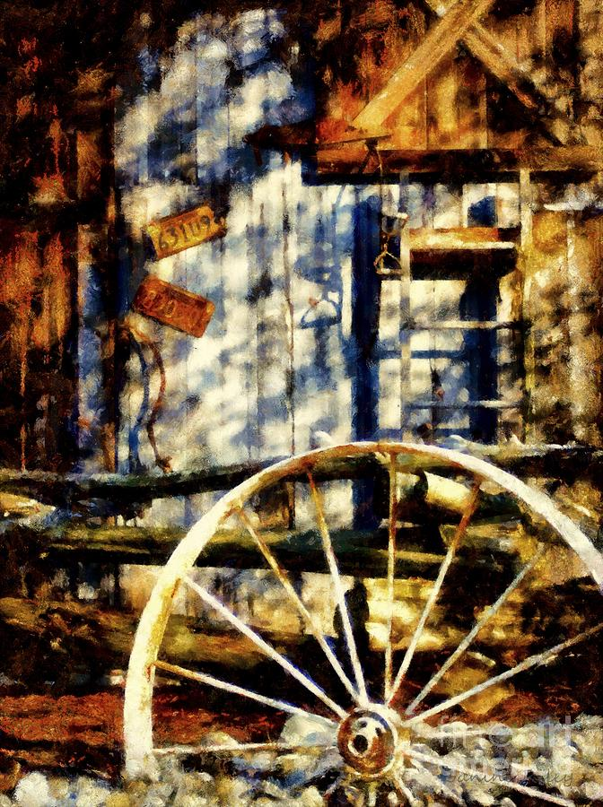 Rustic Decor Painting  - Rustic Decor Fine Art Print