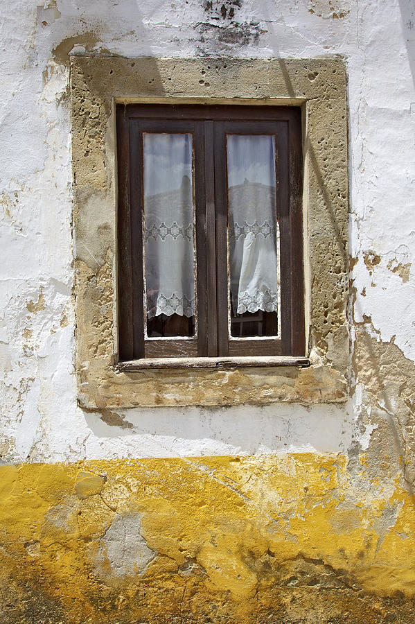 Architecture Photograph - Rustic Window Of Medieval Obidos by David Letts
