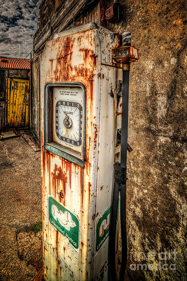 Rusty Gas Pump Photograph  - Rusty Gas Pump Fine Art Print