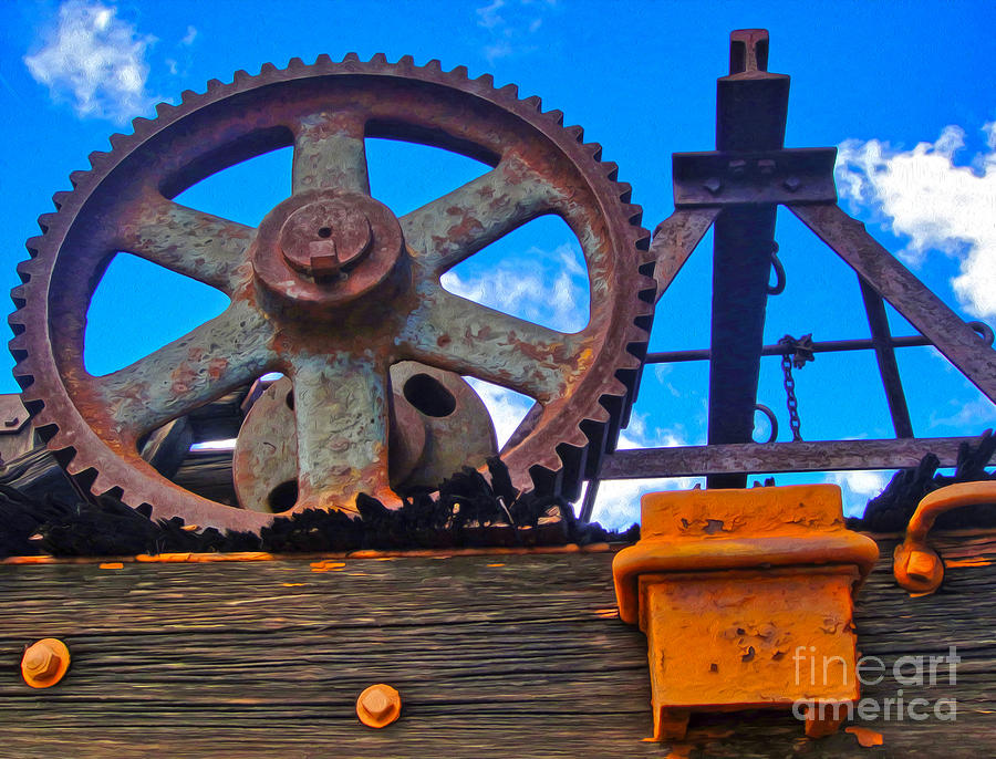 Rusty Gear Photograph