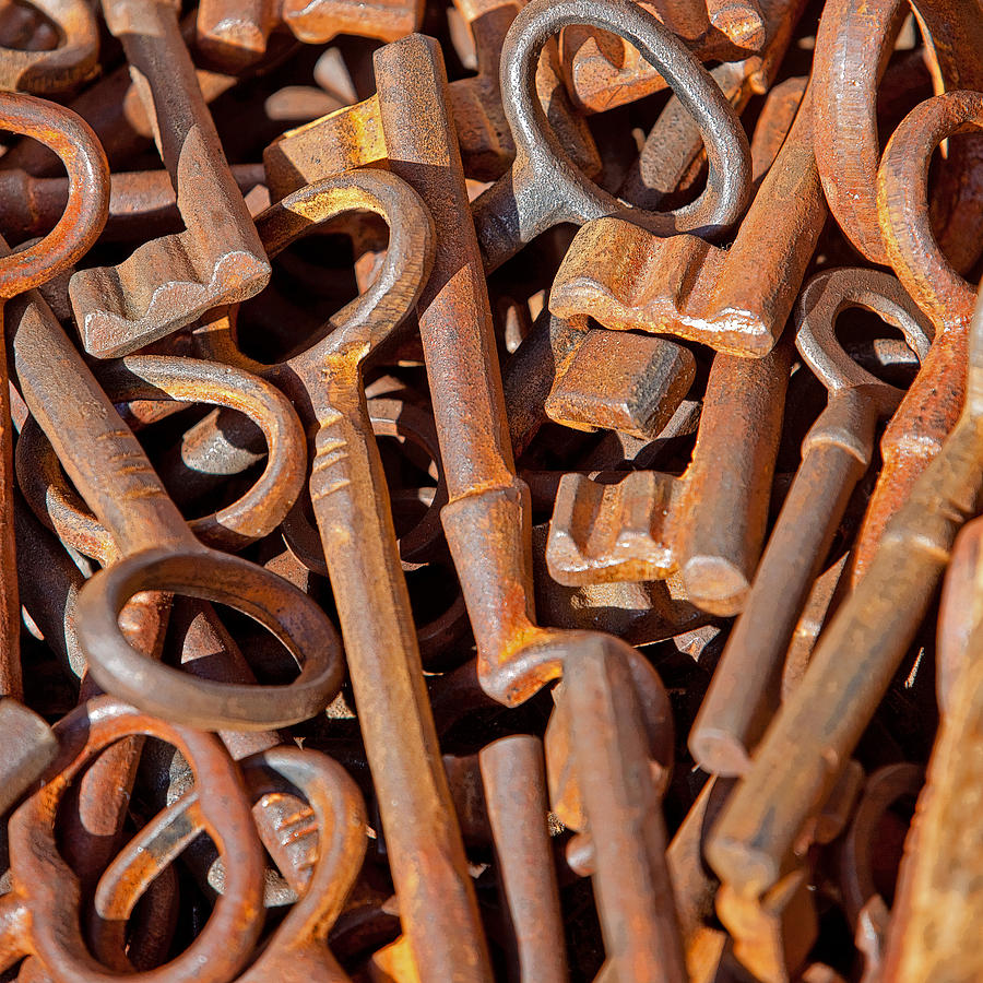 Key Photograph - Rusty Keys by Art Block Collections