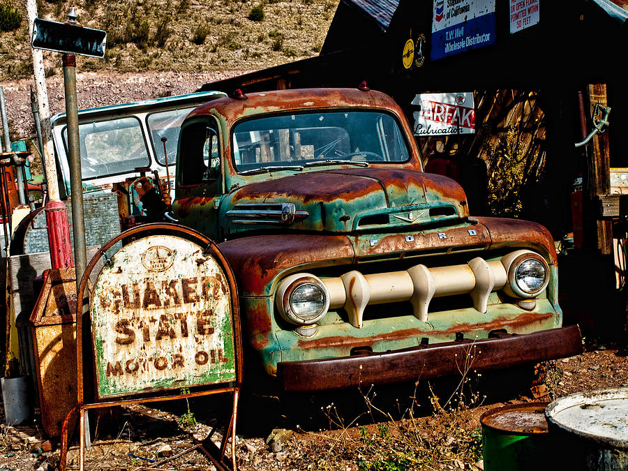 Rusty Old Ford Photograph