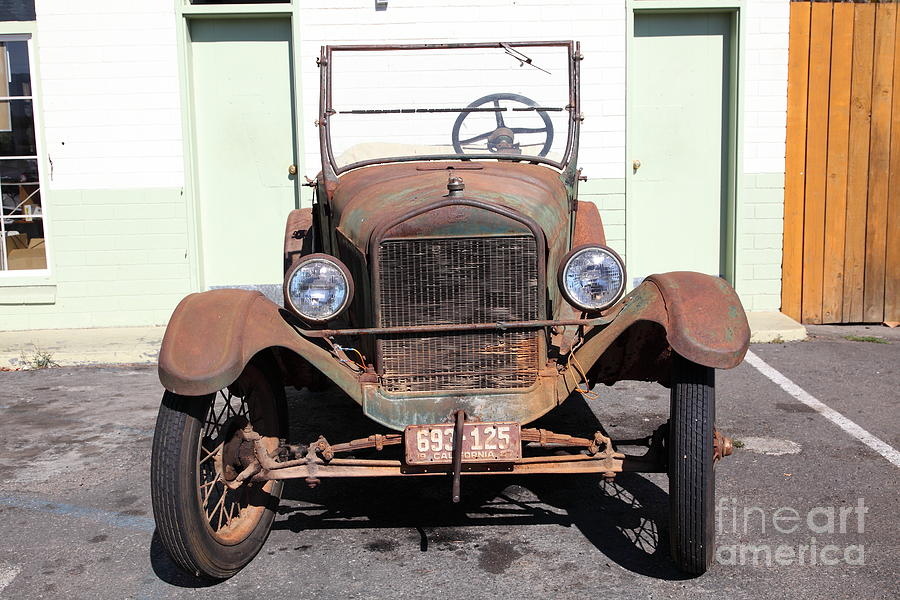 Rusty Old Ford Jalopy 5d24642 Photograph  - Rusty Old Ford Jalopy 5d24642 Fine Art Print