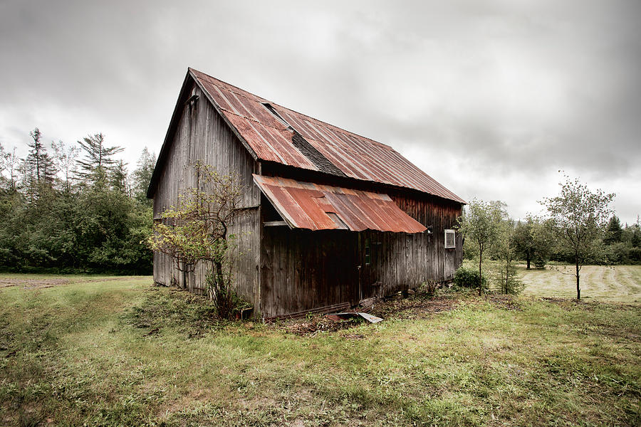Rusty Tin Roof Barn Photograph