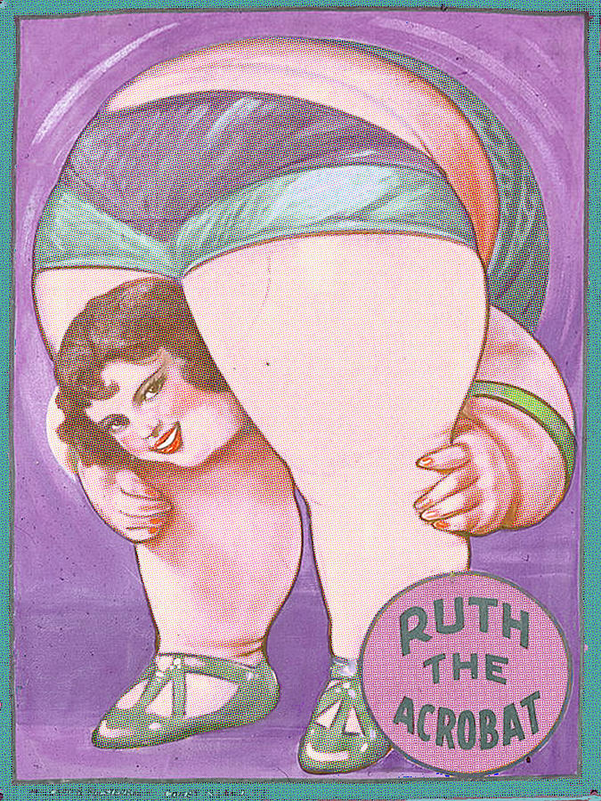 Art Painting - Ruth The Acrobat Circus Poster by Tony Rubino
