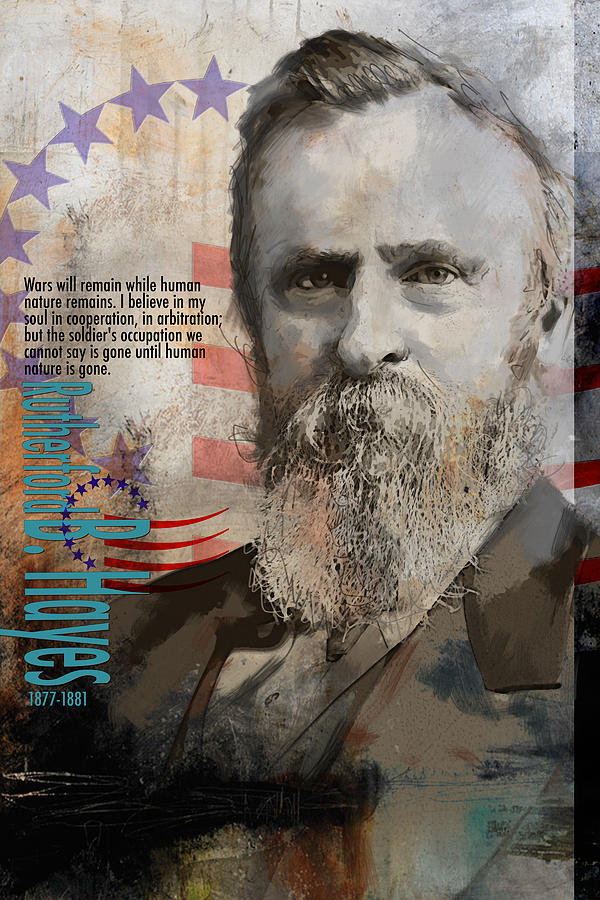 Rutherford B. Hayes Painting - Rutherford B. Hayes by Corporate Art Task Force