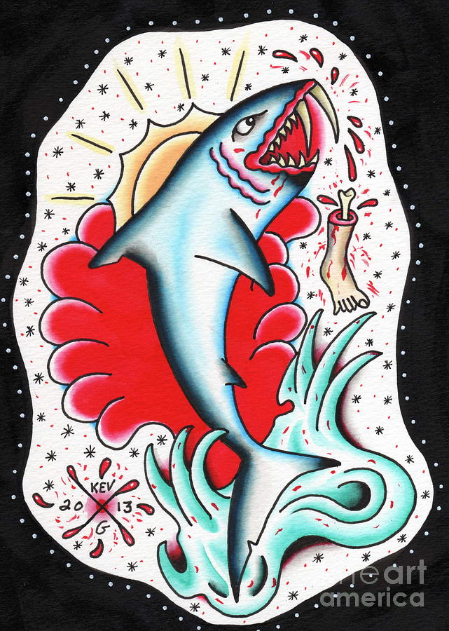 Sabre Tooth Shark Painting  - Sabre Tooth Shark Fine Art Print