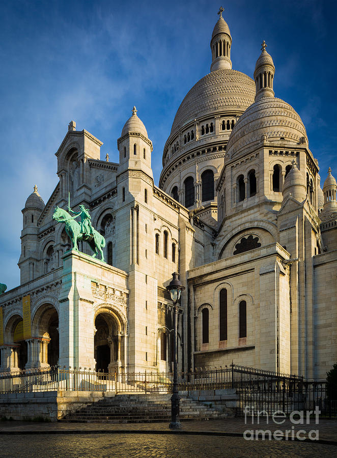 Christianity Photograph - Sacre Coeur At Dawn by Inge Johnsson