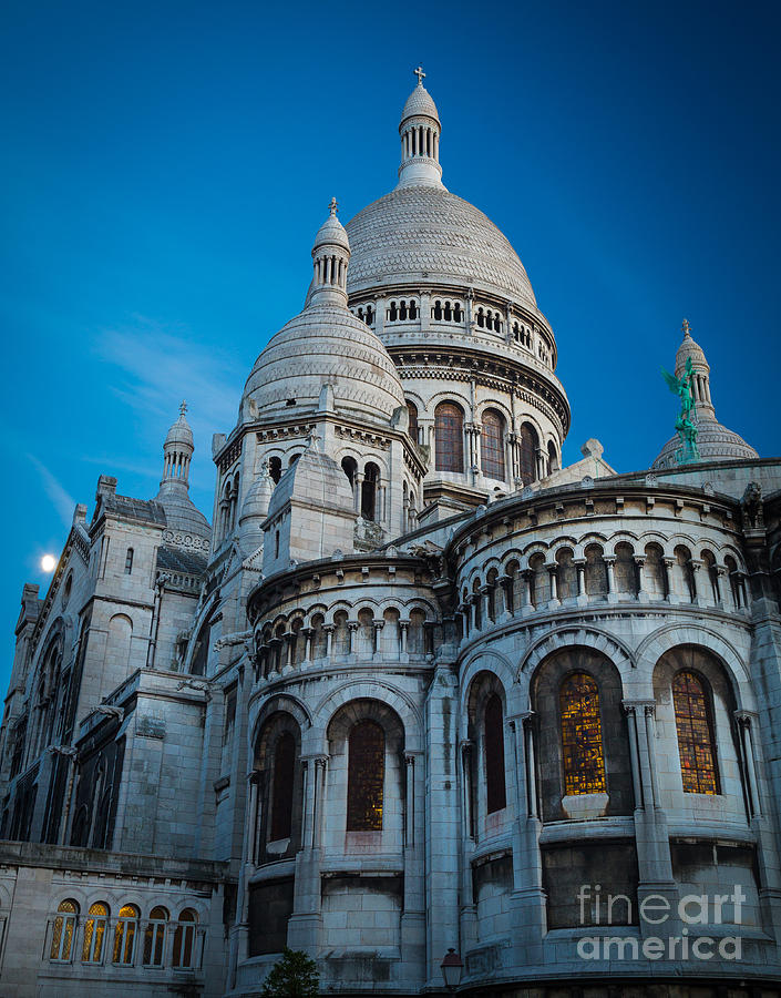 Christianity Photograph - Sacre-coeur At Night by Inge Johnsson