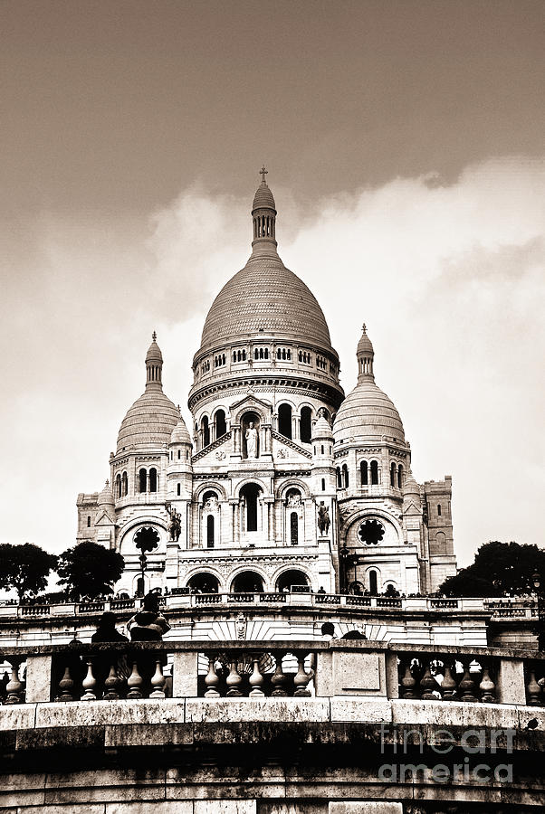 Sacre Coeur Basilica In Paris Photograph