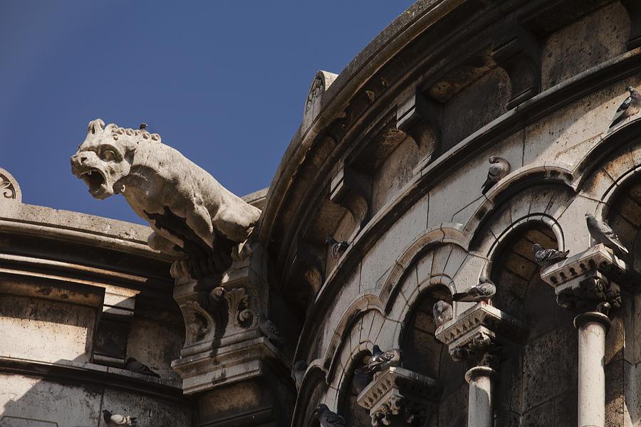 Paris Photograph - Sacre Coeur Gargoyle by Art Ferrier