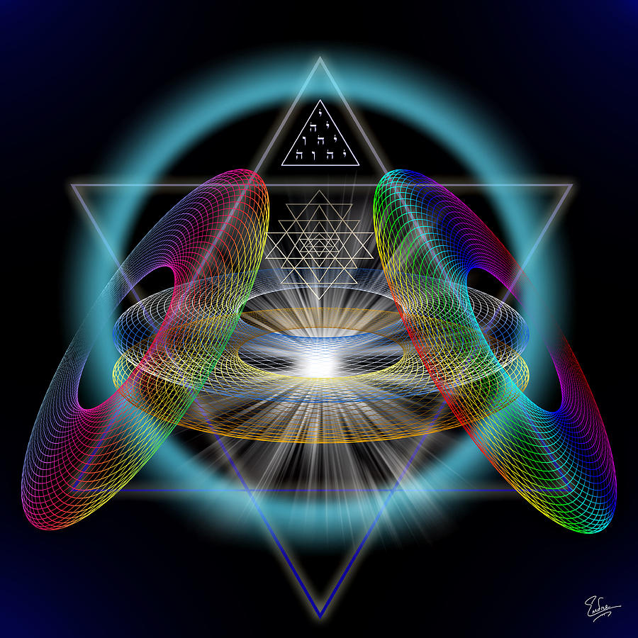 Sacred Geometry 220 Digital Art By Endre Balogh