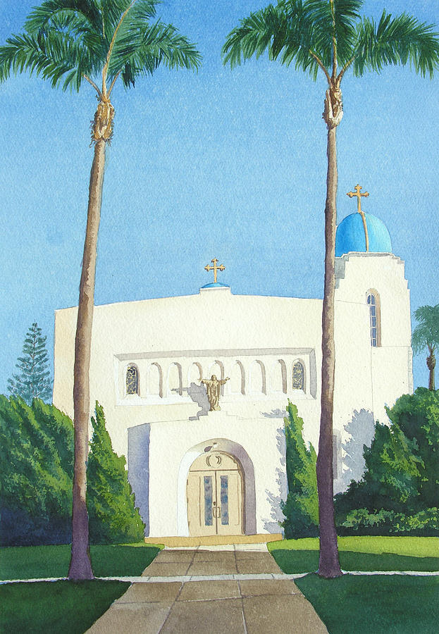 Sacred Heart Church Coronado Painting  - Sacred Heart Church Coronado Fine Art Print