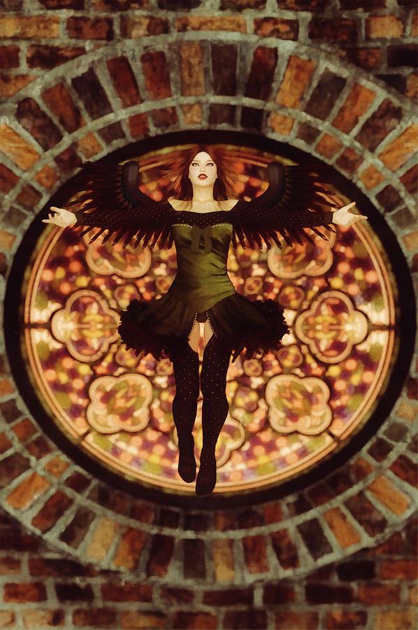 Sacred Ibis Digital Art