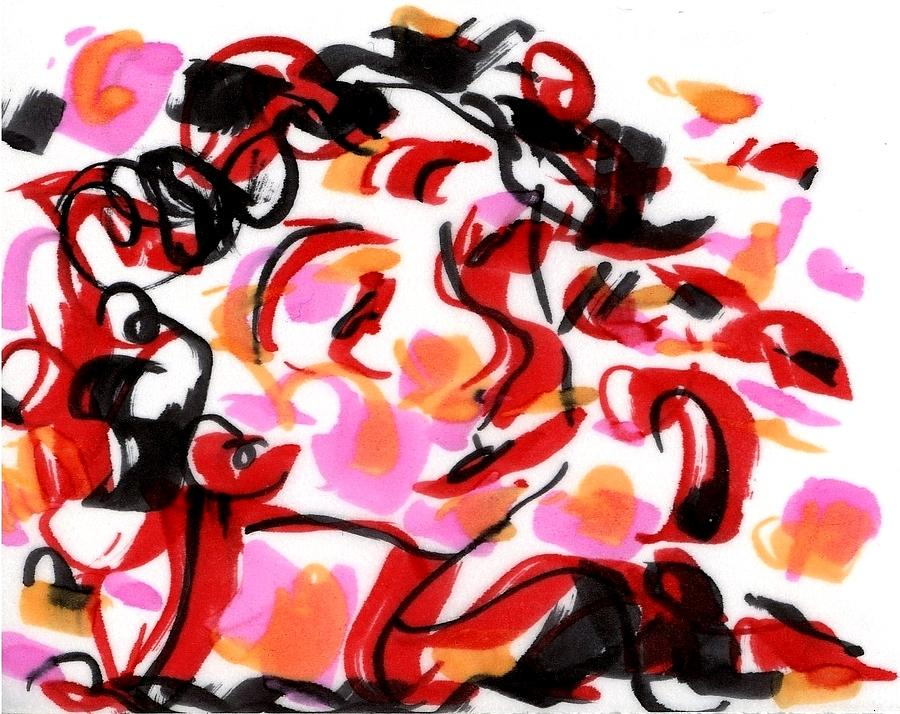 Sad Clowns IIi Drawing