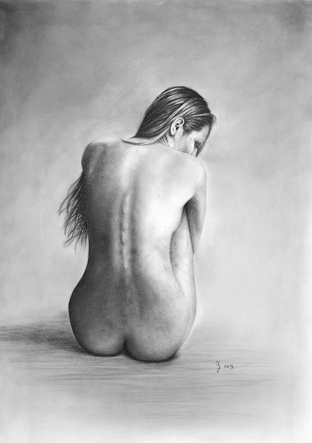 Naked Woman Sad 106