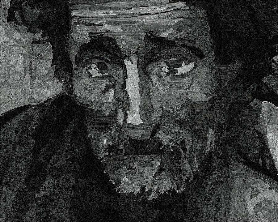 Sad Man Painting by Ayse Deniz | 900 x 718 jpeg 176kB