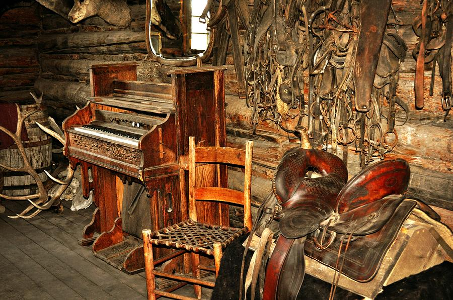 Piano Photograph - Saddle And Piano by Marty Koch
