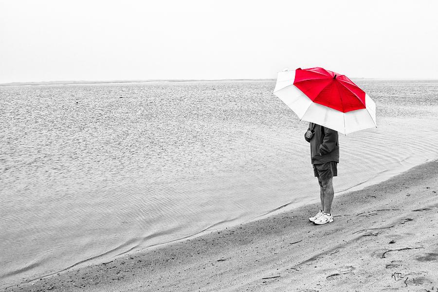 Coastal Photograph - Safe Under The Umbrella by Karol Livote
