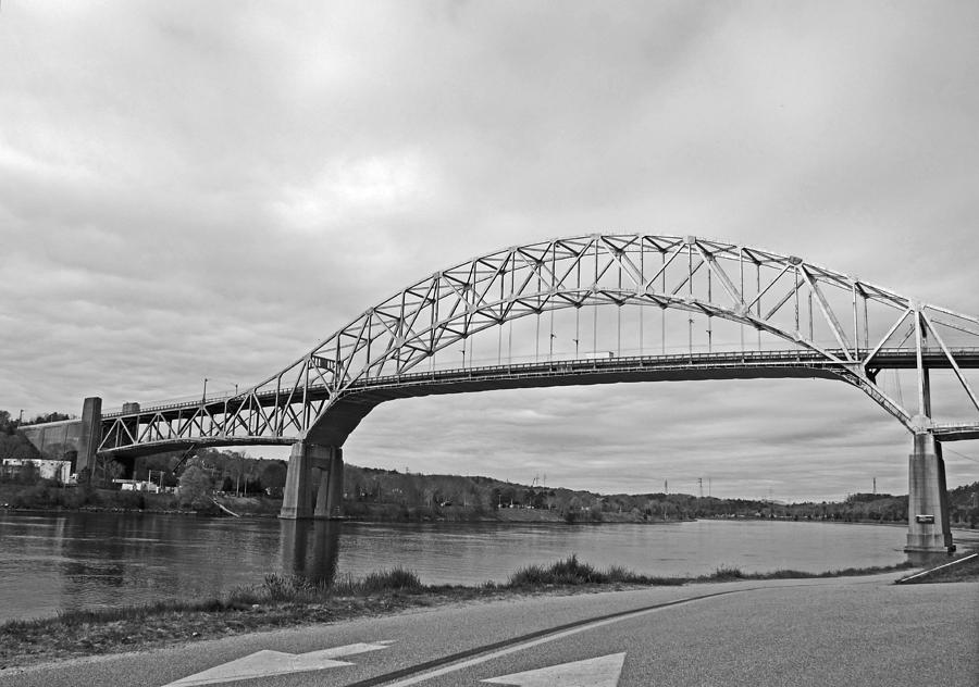 Sagamore Bridge Black And White Photograph  - Sagamore Bridge Black And White Fine Art Print