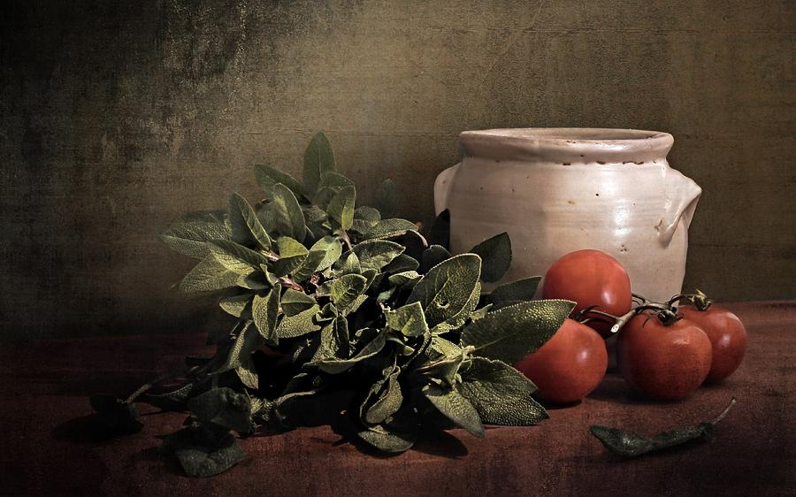 Sage And Tomatoes Photograph