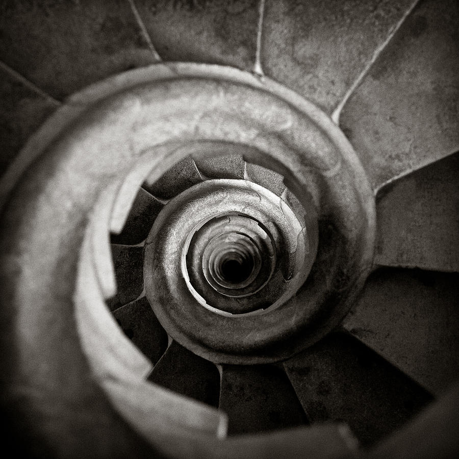 Sagrada Familia Steps Photograph
