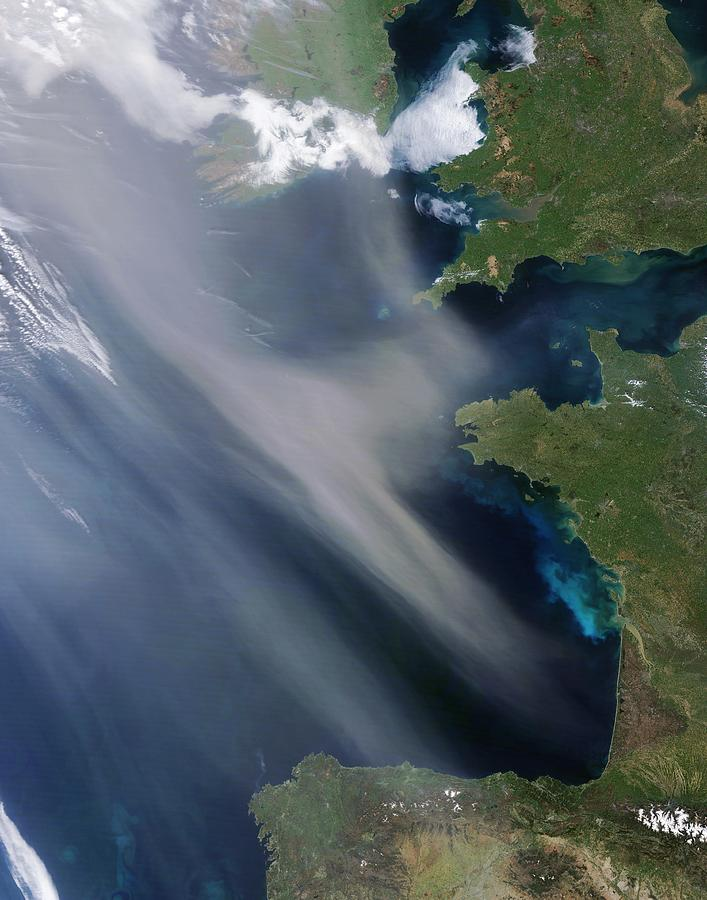 Saharan Dust Plume, Bay Of Biscay Photograph